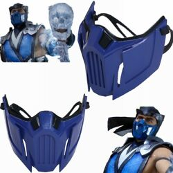 Game Mortal Kombat 11 Sub Zero Half Face Mask Resin Cosplay Party Stage Prop $33.99