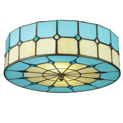 Tiffany Chandelier Ceiling Light Pendant Fixture Lamp Drum Shade Stained Glass $69.99