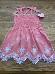 Size 4 Girls Beach Pink Sun Dress New $7.99