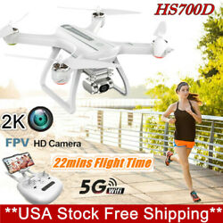 Holy Stone HS700D GPS FPV Drone With 5G 2K HD Camera WIFI RC Quadcopter White $199.99