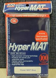 Hyper Mat Sleeves 100ct Blue KMC Gaming Supply Tournament Specs $13.48
