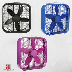Portable Box Fan 3 Speed 20 inch Floor Desk Room Office Strong Air Cooler Blue $33.95