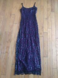 juniors sz 9 black and maroon long sparkling formal dress Rampage $12.99