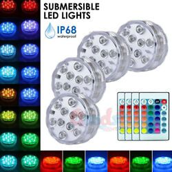 US 4X Swimming Pool Light Submersible LED Lights RGB Remote Control Waterproof $5.50