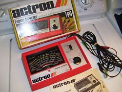 Vintage 70s actron us Engine tune-up tester meter auto service gm street rat $38.53