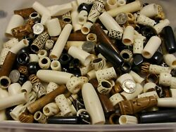 100 Pieces Assorted Super Large Water Buffalo Bone Beads Lot Wholesale FT-55 $27.00