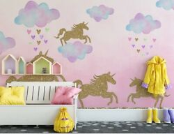 Unicorn Wall Stickers for kids#x27; bedrooms Pink Unicorn Decals for bedrooms Unic $12.99