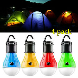 4Pack LED Portable Camping Tent Lamp Emergency Hiking Outdoor Light Lantern Bulb $9.79