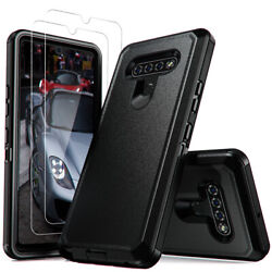 For LG K51 Stylo 6 Phone Case Hybrid Cover Tempered Glass Screen Protector $9.89