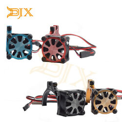 RC Motor Heatsink Cooling Fan with Thermal Sensor for 540 550 3650 3660 Motors $12.23