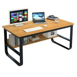 Computer Table Modern Desk Home Office Study Workstation Writing Furniture Shelf $89.88