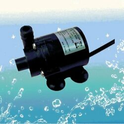 12V DC Small Brushless Pump Submersible Motor Pump Water Pump with Female Plug $11.67