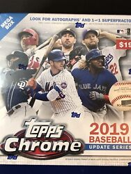 2019 Topps Chrome Update Mega Box - FACTORY SEALED 🔥 EXCLUSIVE $46.95
