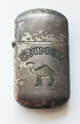 Vintage Camel Cigarette Lighter Silver Tone