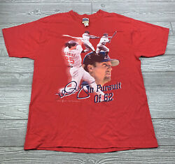 """Vintage Mark McGwire #25 """"In Pursuit Of 62"""" Mens X Large Shirt $15.99"""