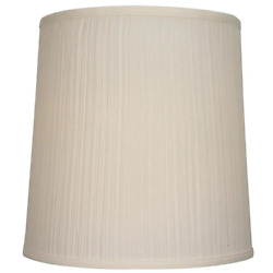 Allen Roth Drum Lamp Shade Natural Fabric Transitional Beige Large 14 x 14 in $30.95