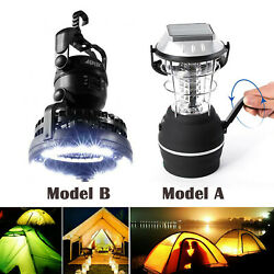 36LED Camping Solar Panel Lantern Lights Kit USB Rechargeable Battery with Fan $26.16