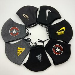 Sport Embroidery Fabric Face Masks Washable Black Swoosh Men amp; Women Lakers NY $6.79