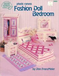 Fashion Doll Bedroom for Barbie Plastic Canvas PATTERN INSTRUCTION Booklet $7.97