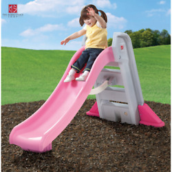 Big Folding Pink Outdoor Slide Toddlers Kids Plastic Playground Portable Toy New $189.95