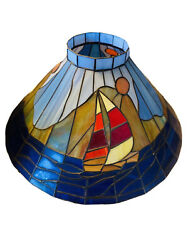 TIFFANY Style STAINED GLASS Table Lamp Shade ROSES Tulips $95.00