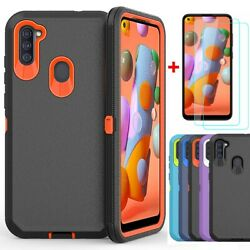 For Samsung Galaxy A21 A11 A21S Case Shockproof Cover Glass Screen Protector $9.95