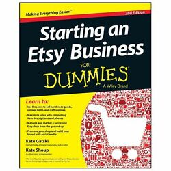 Starting an Etsy Business For Dummies Shoup Kate Acceptable Book 0 Paperbac $5.08