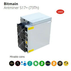 USED BITMAIN ANTMINER S17 73TH MINER BITCOIN BTC BCH TRC WITH PSU $1950.00