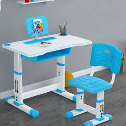 Height Adjustable Children Study Desk Table amp;Chair Drawing Set Bookstand desks $74.98