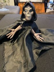 Hanging Halloween Animated Shaking Sound Alien In Cape Scary Prop Haunted House $19.99