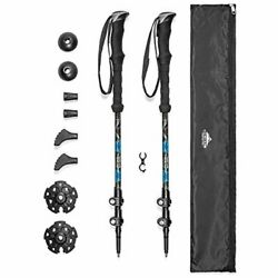 Cascade Mountain Tech Trekking Poles Carbon Fiber Strong Adjustable Hiking or $61.99