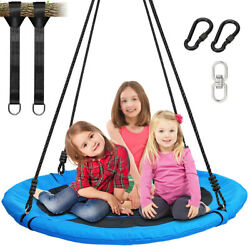 40 Inch Outdoor Nest Swing Round Seat Hanging Kids Swing 900D Oxford Waterproof $78.88