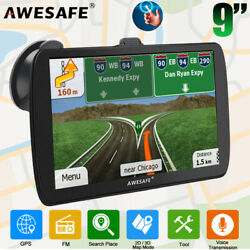 9quot;AWESAFE Car GPS Navigation Truck Navigator with Free 8GB North America Map $93.99