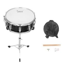New Black Snare Drum Poplar Wood Drum 14 x 5.5quot; with Drumsticks Bag amp; Stand $55.66