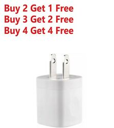 For iPhone 5 6 7 8 X 11 White 1A USB Power Adapter AC Home Wall Charger US Plug $3.99