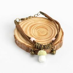 Women Mushroom Bracelet Boho DIY Ceramics Bracelets Lady Bangles Girls Jewelry $5.91