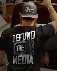 Defund The Media Fake News TV Retro Vintage Men T Shirt Cotton S 5XL Black $16.99
