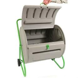 Rugged Weather Resistant Outdoor Compost Bin Tumbler 4.9 Cubic Ft $417.82