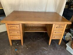 Antique desk 1930 6 Drawers $400.00