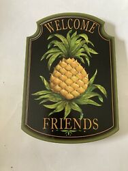 Brandywine Woodcrafts Welcome Pineapple Plaque New colonial Williamsburg $12.50