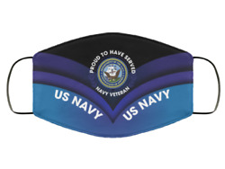 US Navy Veteran Proud To Have Served Face Mask Printed in US Fits All Size Ultra $14.24