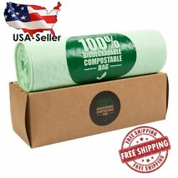 100PC Biodegradable Compost Bags Eco Friendly Trash Bag 3 Gallon Capacity Green $26.99