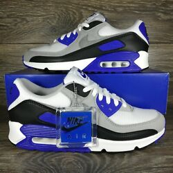 Nike	Air Max 90 #x27;Recraft Hyper Royal Blue#x27; Sneakers CD0881 102 Men#x27;s Sizes $119.95