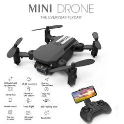 Mini Drone With HD Camera 4K Video Recording Flodable Arm Rc Quadcopter Toy Gift $41.97