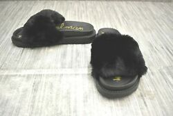 **Sam Edelman Blaire Slide Sandal Women#x27;s Size 6M Black Faux Fur NEW $27.30