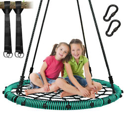 40quot; Nest Swing Round Web Tree Swing w Steel Frame Heavy Duty for Kids Bis 300KG $85.50