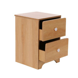 Nightstand Bedroom Bedside Table Storage Furniture Night Stand Cabinetw Drawers $28.77