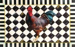 Rooster amp; Cortly Checks sign plaque gift rooster chicken farm wall decor $14.99
