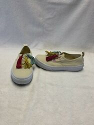 Vans Off The Wall Girls Cream white pink Shoes size 3 Y $18.00