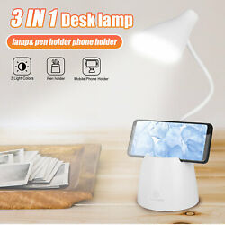 Adjustable LED Desk Light Reading Table Lamp Dimmable Rechargeable Touch Control $16.97